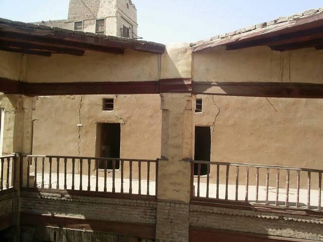الطابق الثانى بالوكالة كان به غرف فندقية لكبار التجار