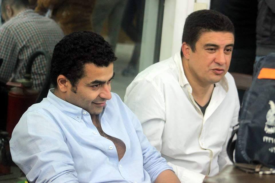 المخرج وائل فهمي عبد الحميد ومدير التصوير يحيي فهمي اثناء التصوير