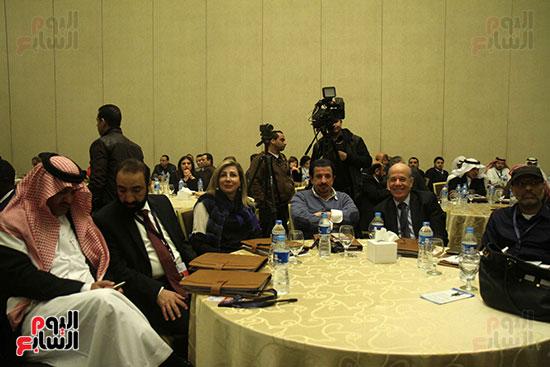 مجموعة من المحامين العرب خلال فعاليات المؤتمر الأول للمحاماة