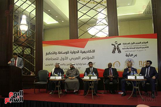 المتحدثون بالمؤتمر العربى الأول للمحاماة