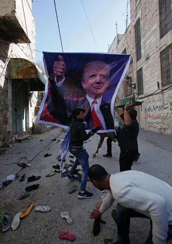 تظاهرات-ضد-ترامب-فى-الضفة-الغربية