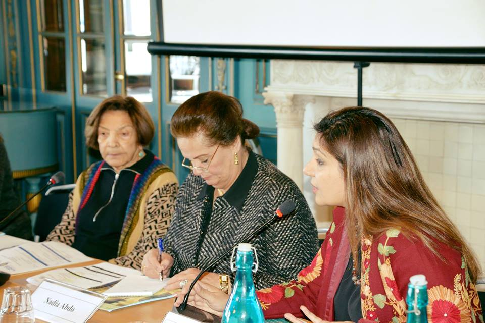 خلال افتتاح مؤتمر المرأة بالمعهد السويدى بالإسكندرية