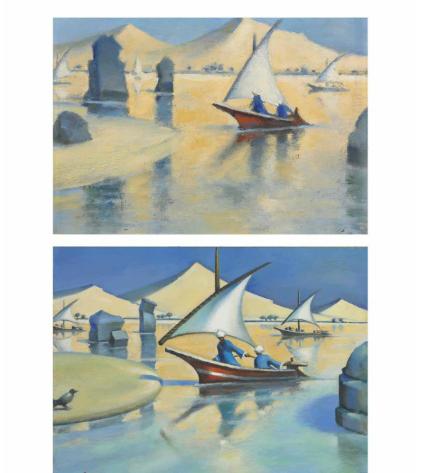 لوحة الفنان محمود سعيد