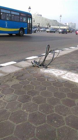 الكابلات المكشوفة في الإسكندرية