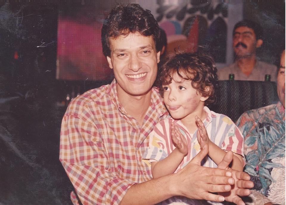 محمد مع والده الفنان إبراهيم يسرى