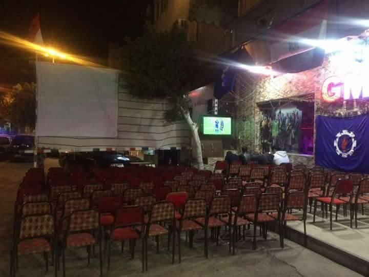 استعداد كافيهات السويس قبل مباراة مصر و الكاميرون  (1)