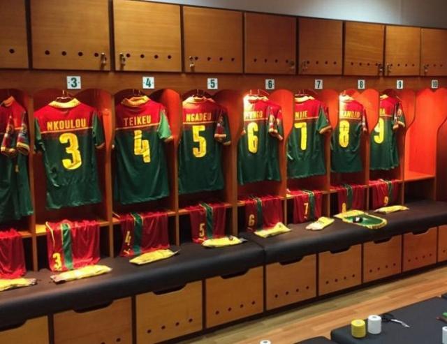غرفة تغيير ملابس منتخب الكاميرون