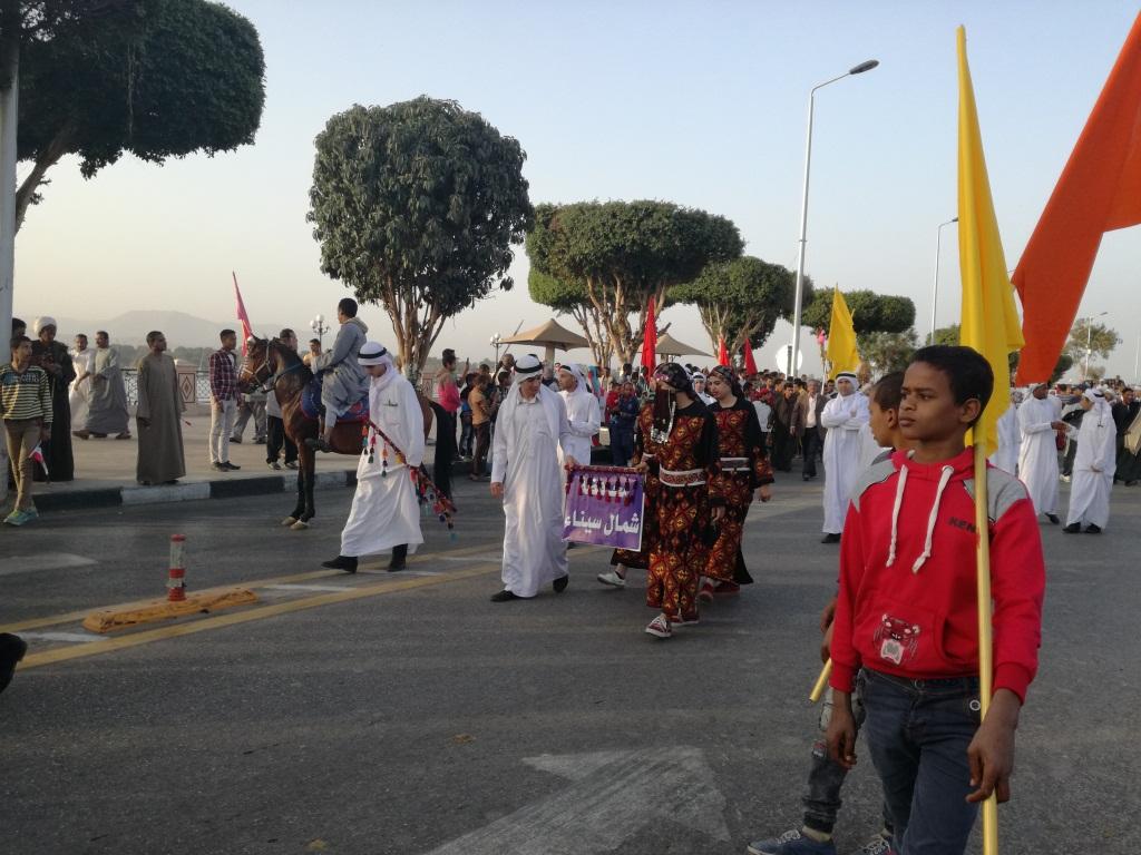 عروض فرقة شمال سيناء الشعبية بكورنيش الأقصر