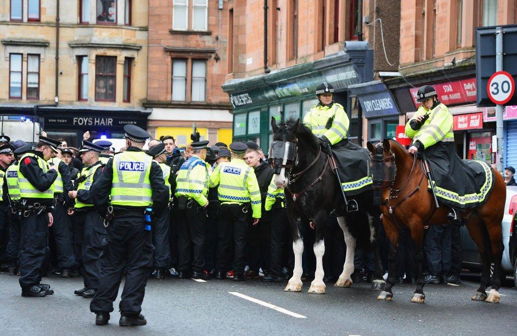 تأمين الشرطة لديربى اسكتلندا النارى