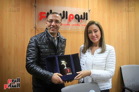 الكاتب الصحفى خالد صلاح والإعلامية ريهام سعيد