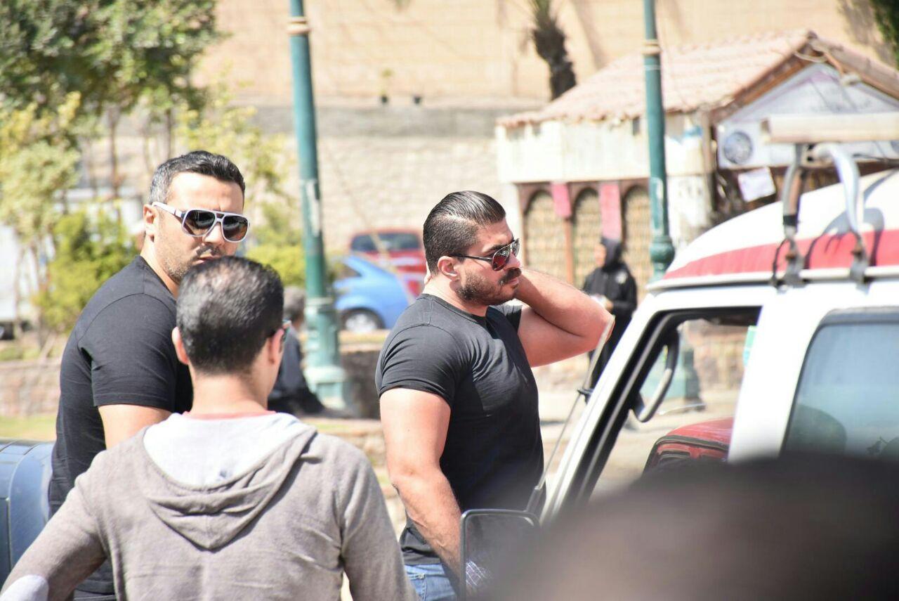 احمد فريد وخالد سليم فى الجنازة