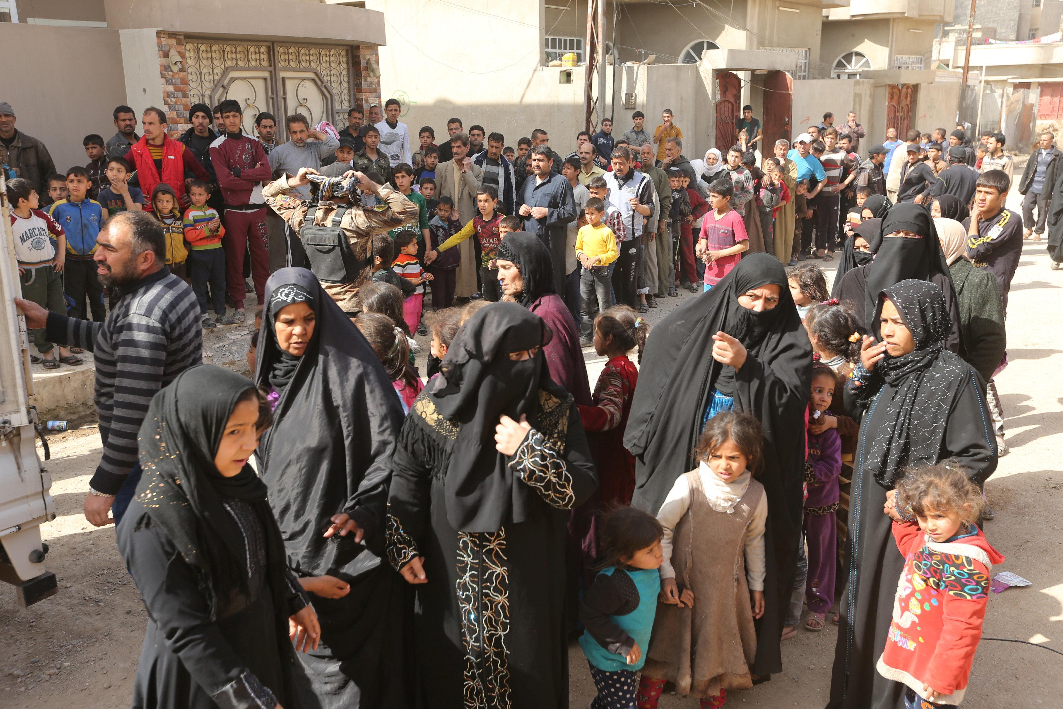 جانب من نزوح العراقيين من الموصل