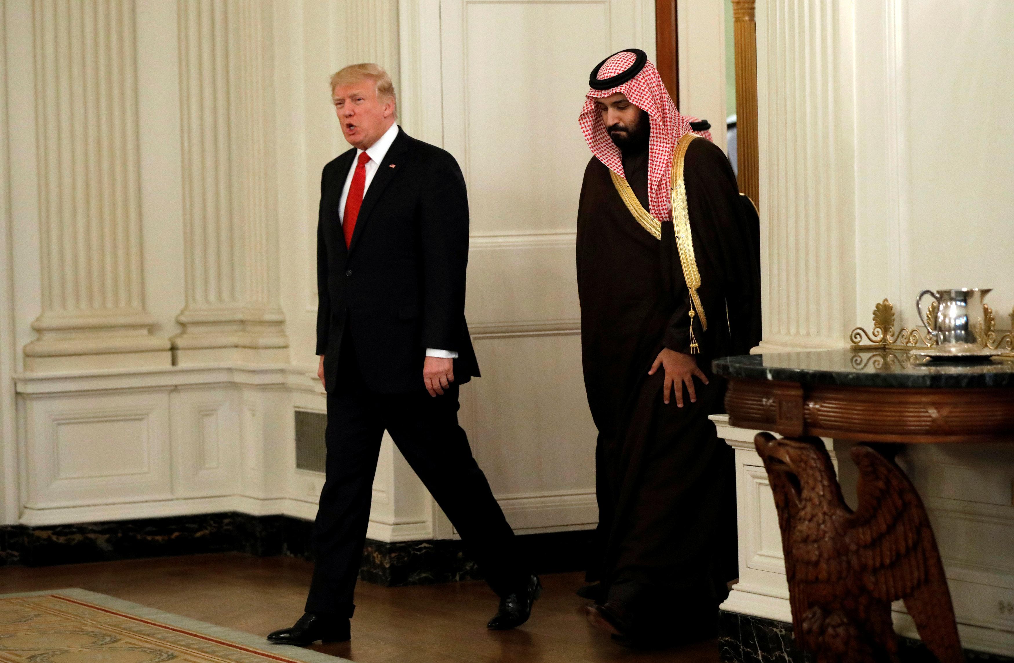 استقبال ترامب لولى ولى العهد السعودى