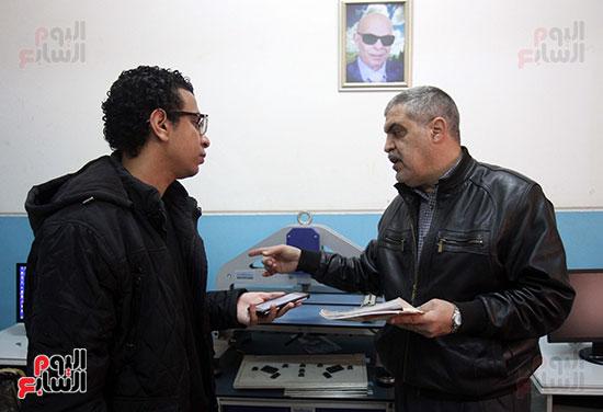 كريم عاطف أول كفيف يتولى إدارة مركز المكفوفين  (5)