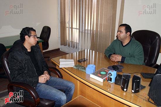 كريم عاطف أول كفيف يتولى إدارة مركز المكفوفين  (1)