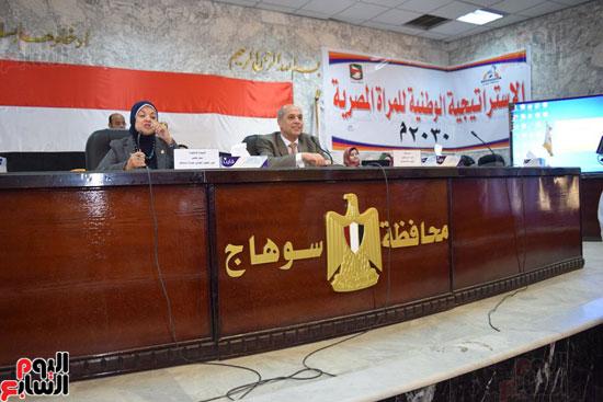 الدكتورة سحر وهبى مقررة المجلس القومى للمرأة والسكرتير العام