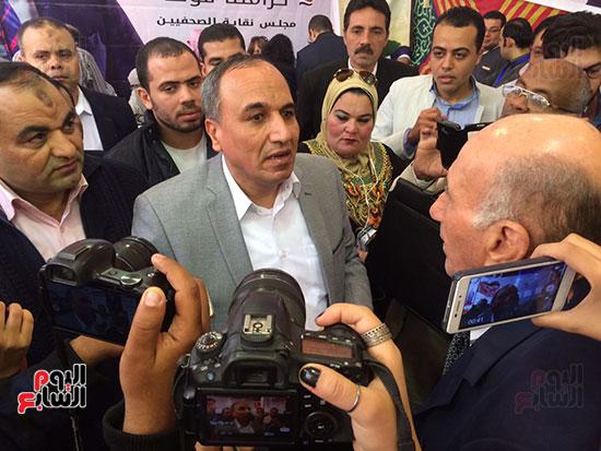 عبد المحسن سلامة المرشح لدى وصوله للجمعية العمومية