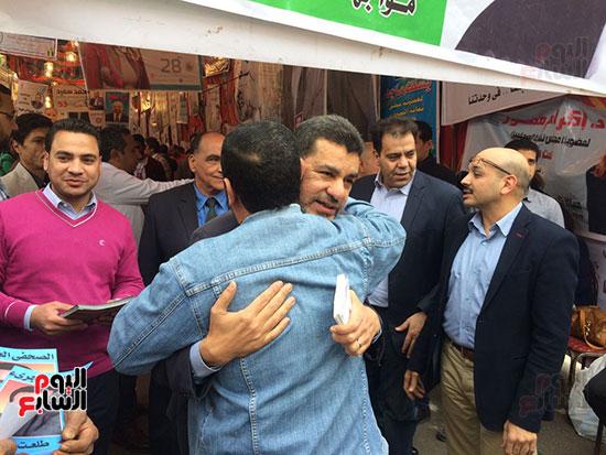المرشح ابراهيم منصور لدى وصوله للجمعية العمومية