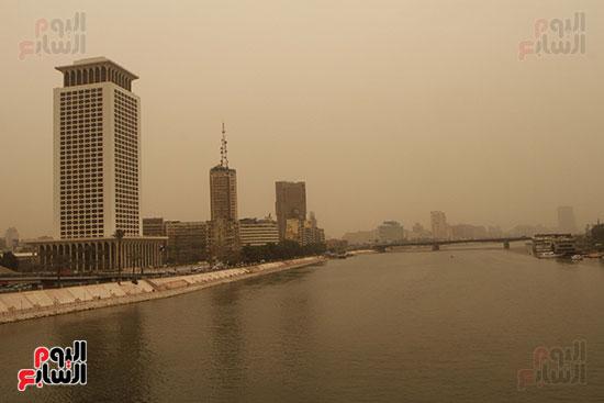 الأتربة فى سماء القاهرة