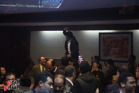 احتفالات فى نقابة الصحفيين بأعضاء المجلس الجدد (4)