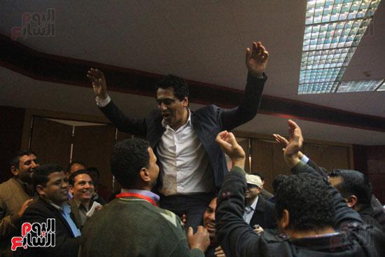 احتفالات فى نقابة الصحفيين بأعضاء المجلس الجدد (2)