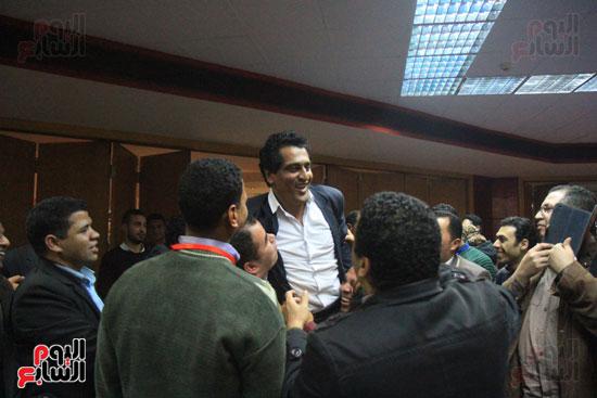 احتفالات فى نقابة الصحفيين بأعضاء المجلس الجدد (3)
