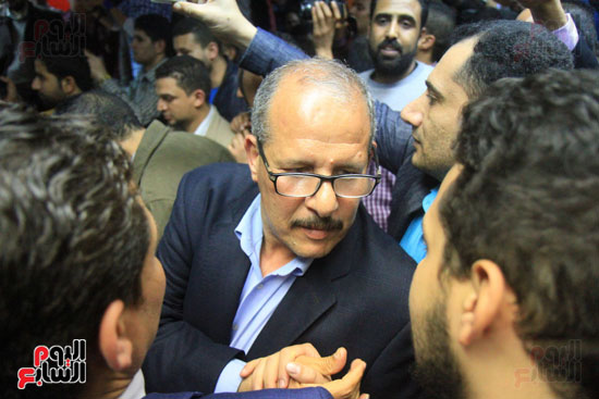 احتفالات فى نقابة الصحفيين بأعضاء المجلس الجدد (8)