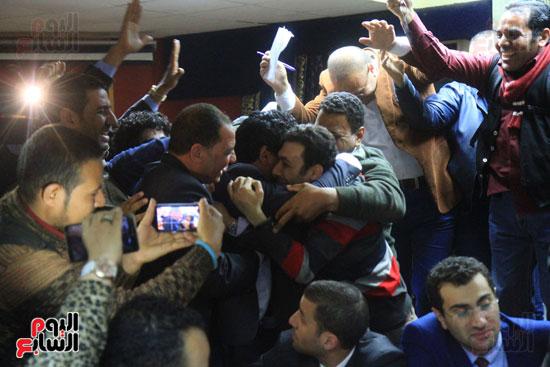احتفالات فى نقابة الصحفيين بأعضاء المجلس الجدد (6)