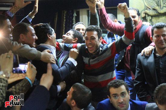 احتفالات فى نقابة الصحفيين بأعضاء المجلس الجدد (5)
