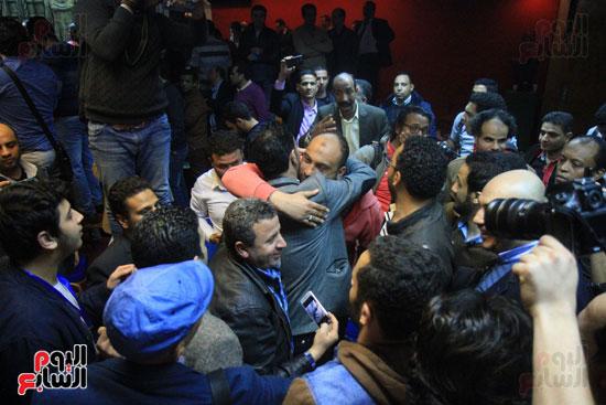 احتفالات فى نقابة الصحفيين بأعضاء المجلس الجدد (1)