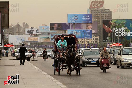 مواطنون فى شوارع القاهرة