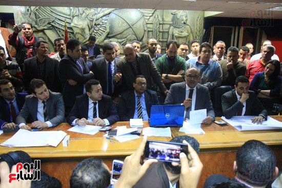 احتفالات فى نقابة الصحفيين بأعضاء المجلس الجدد (9)