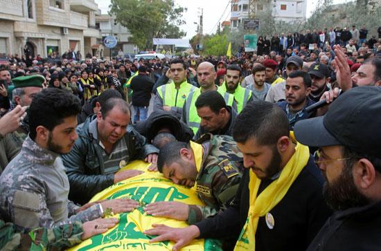 حزب الله اللبناني يشيع جثامين قتلاه المحاربين فى سوريا
