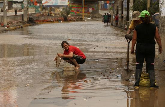 جانب من الفيضانات فى بيرو