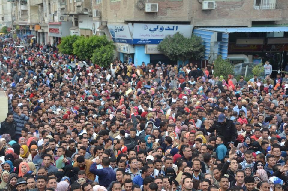 الألاف بملتقى التوظيف بكفر الشيخ