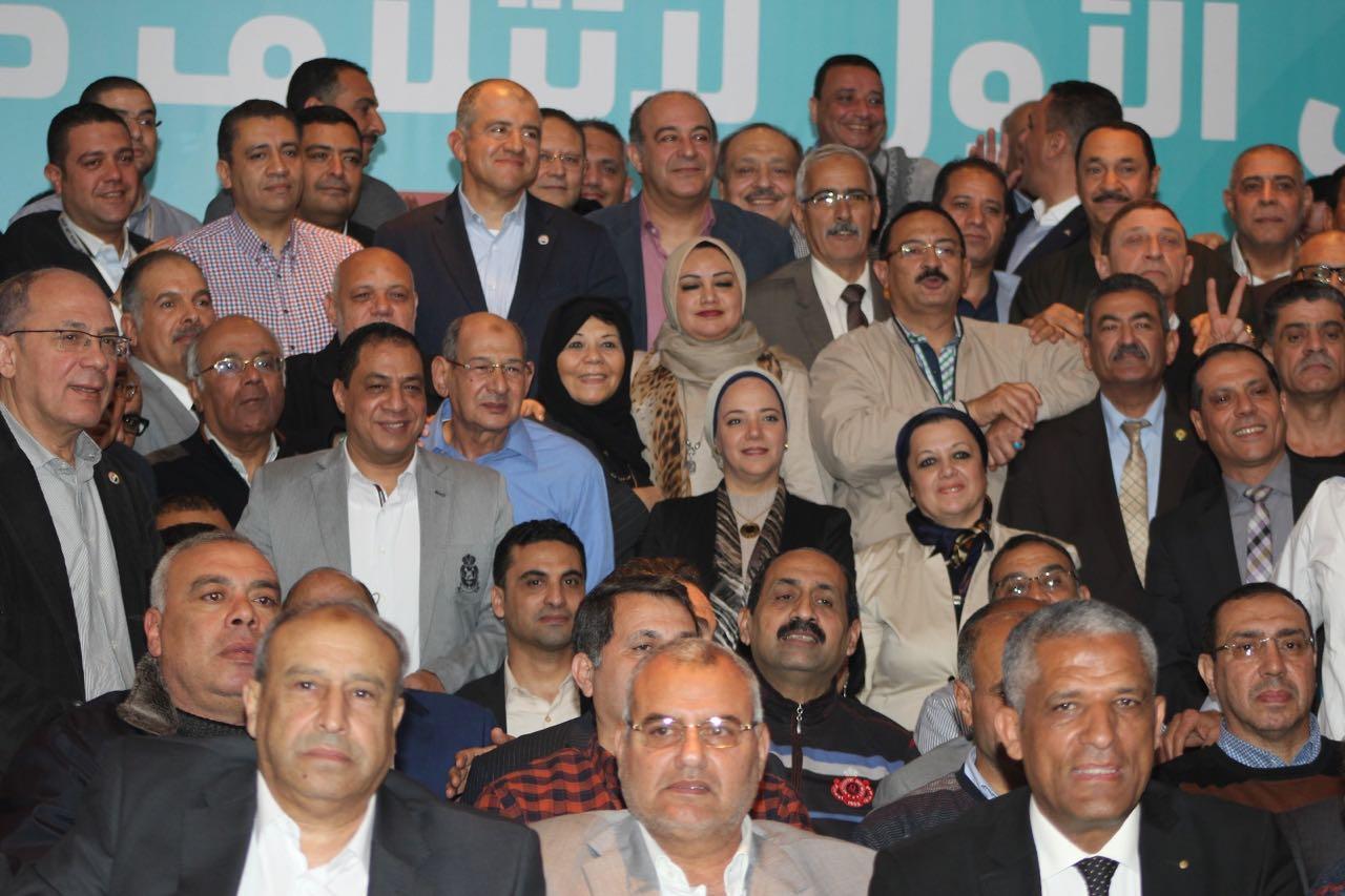 محمد السويدي مع أعضاء ائتلاف دعم مصر