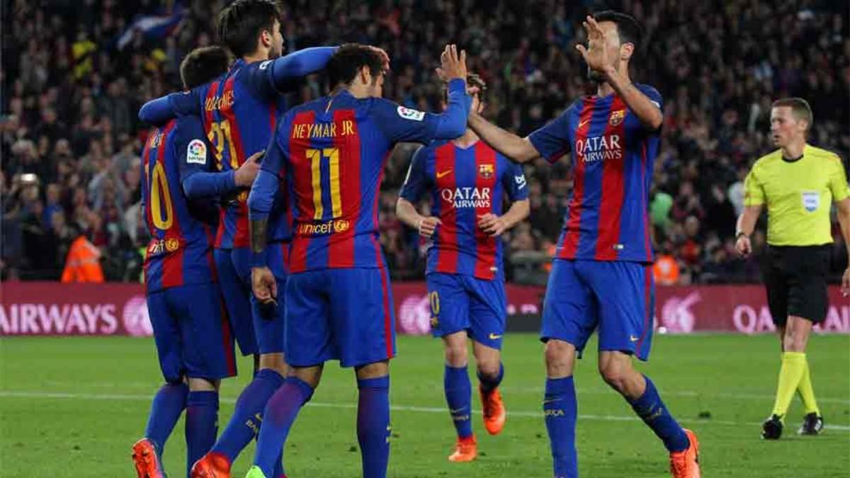 برشلونة يحتل المركز الثانى فى ترتيب الدوري الإسباني