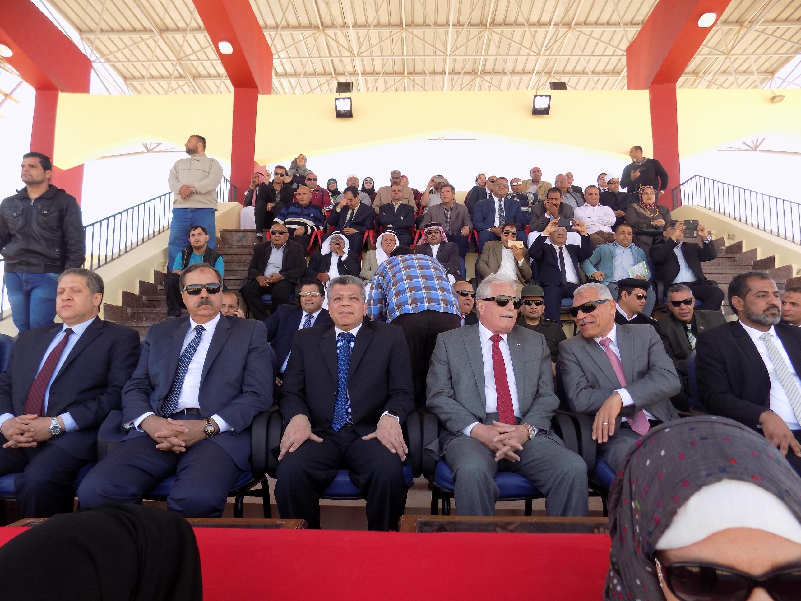 اللواء خالد فودة محافظ جنوب سيناء وقيادات المحافظة