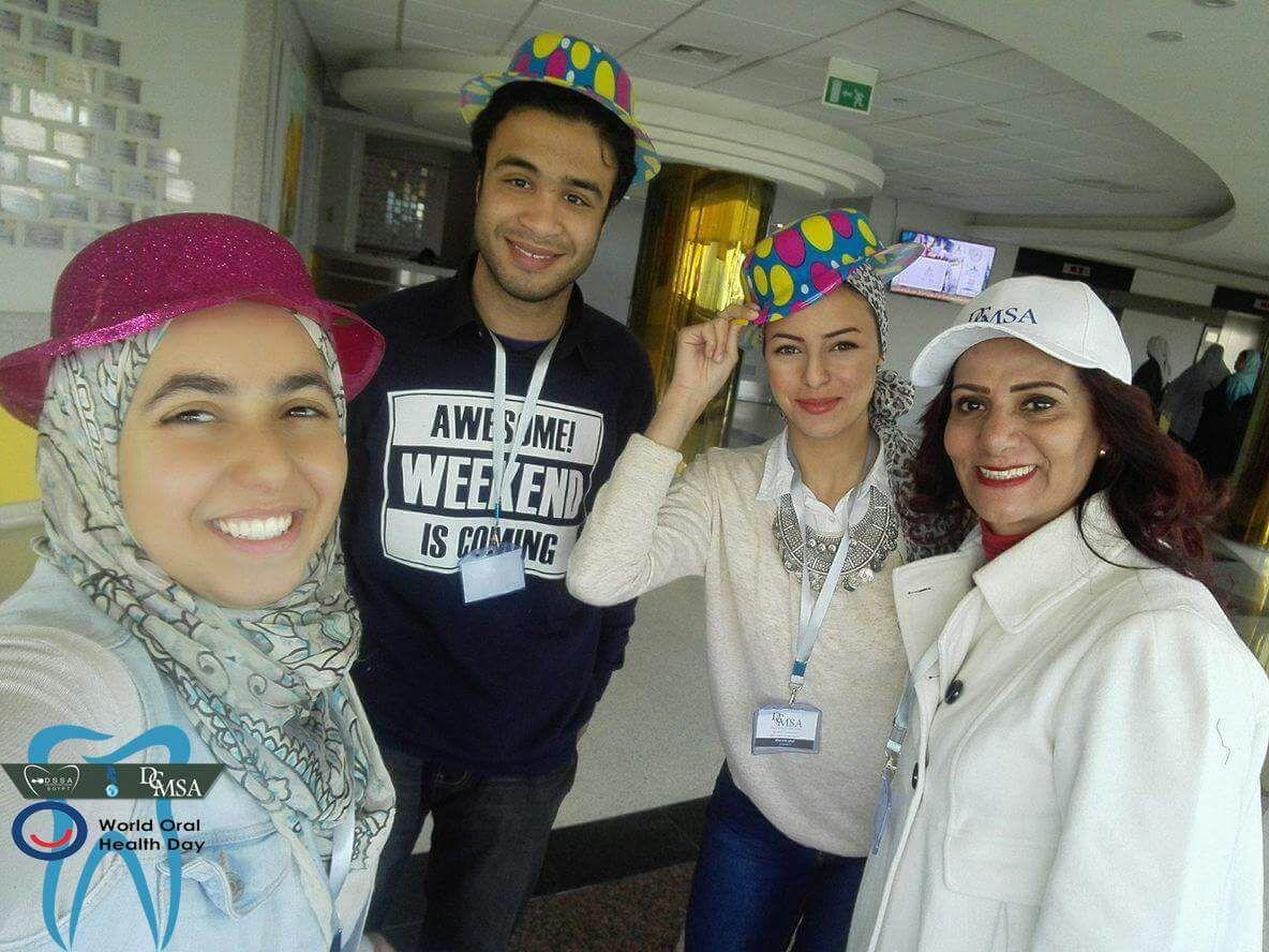طلبة MSA المشاركون فى الفعالية