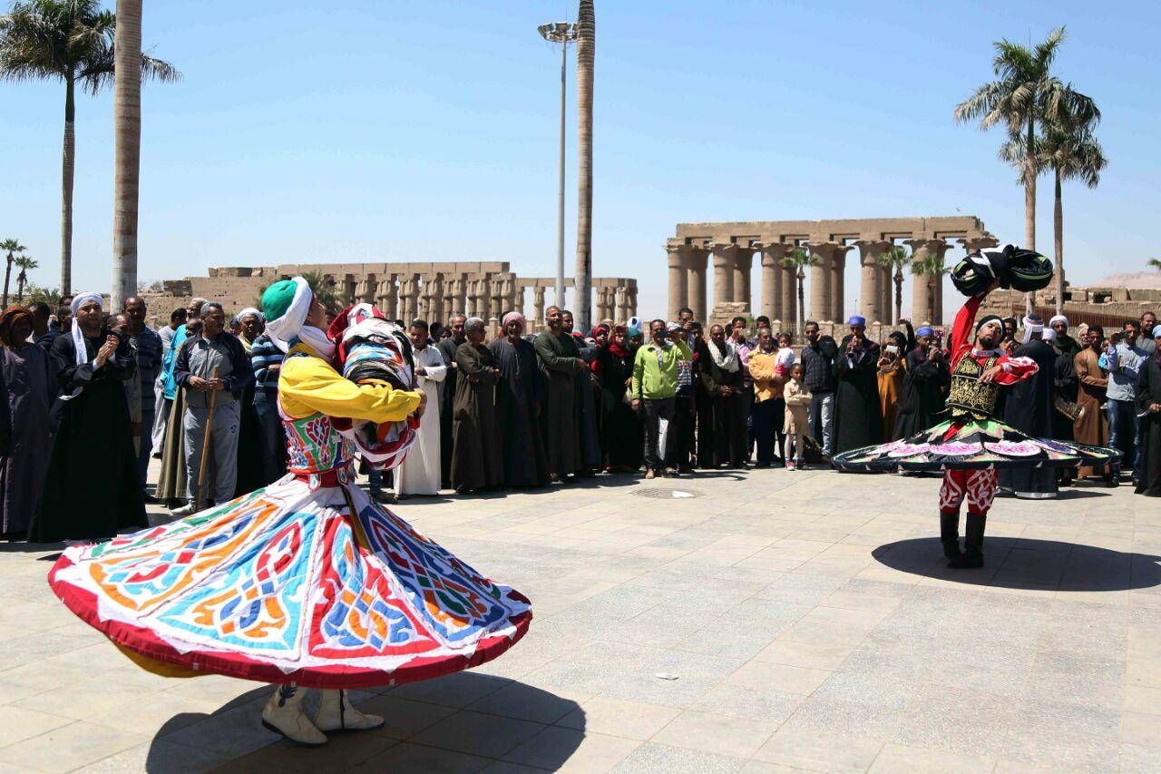 كارنفالات فنية بالأقصر احتفالا بوصول شعلة الثقافة العربية (1)