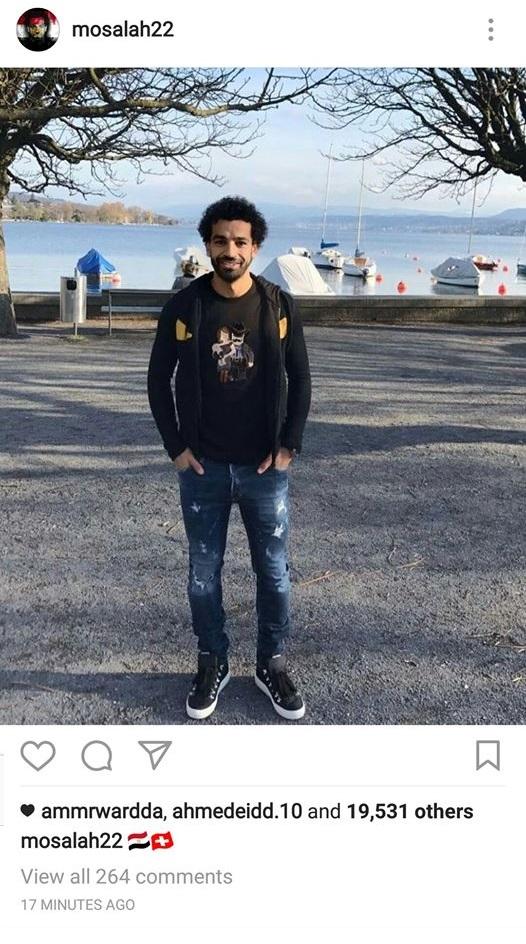 محمد صلاح فى سويسرا