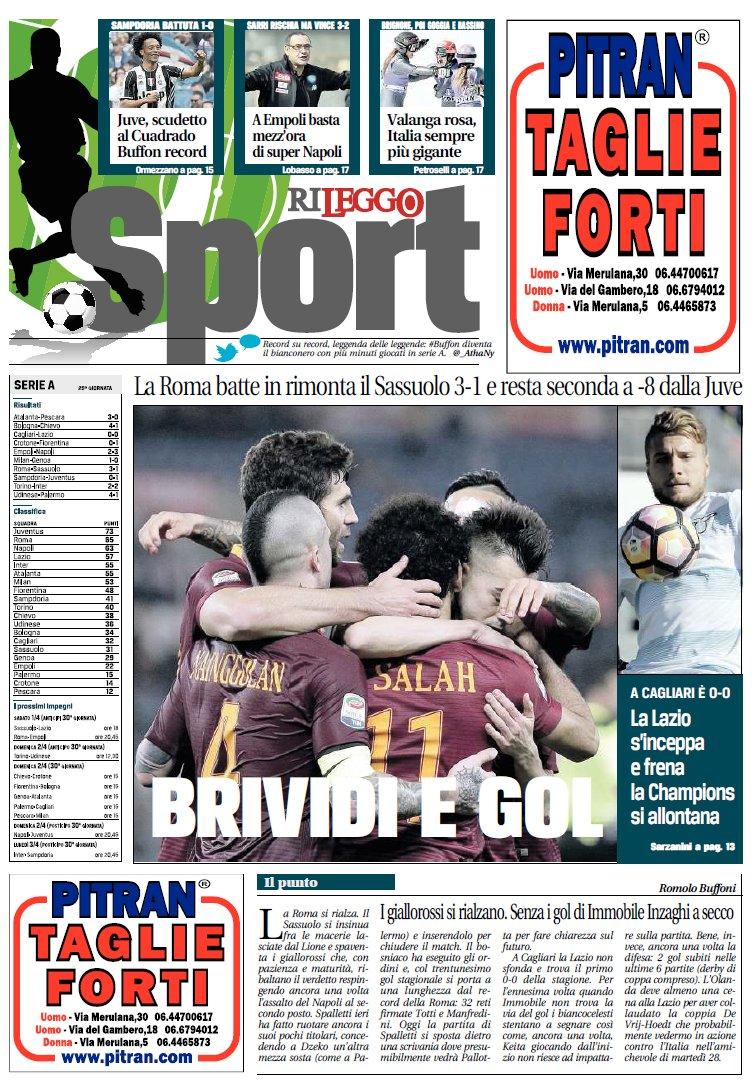غلاف صحيفة ليجو الايطالية