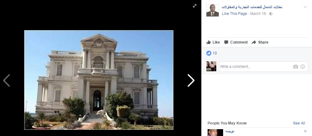 الشركة تعرض القصر للبيع