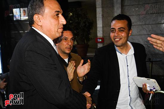 نقيب الصحفيين الجديد في اول يوم في نقابة الصحفيين ومؤتمر صحفي (3)