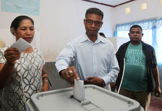 جانب من التصويت فى تيمور الشرقية