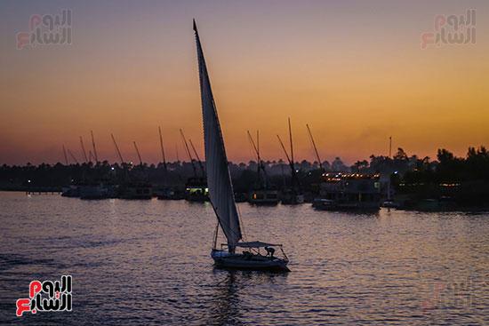 المراكب الشراعية بنهر النيل
