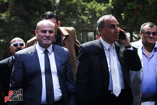 نقيب الصحفيين الجديد في اول يوم في نقابة الصحفيين ومؤتمر صحفي (2)