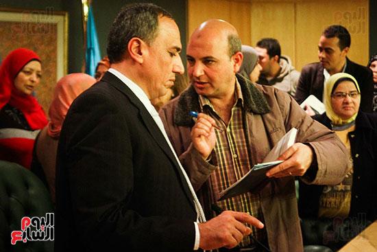 نقيب الصحفيين  عبد المحسن سلامة فى نقابة الصحفين (2)