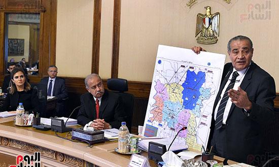 عرض خريطة محافظة الغربية فى اجتماع مجلس المحافظين