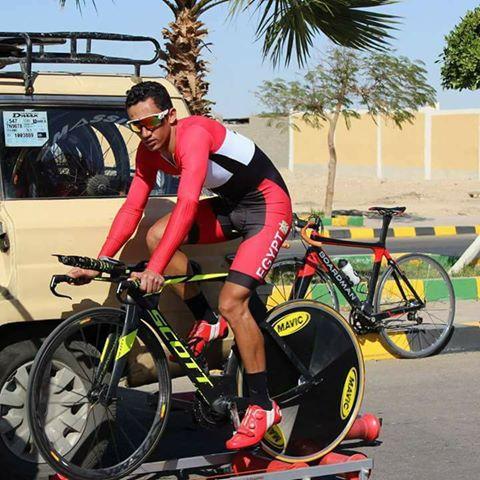 اسلام ناصر لاعب منتخب الدراجات